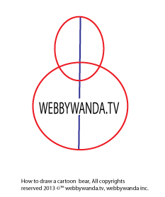 webbywanda.tv's how to draw a cartoon bear step one