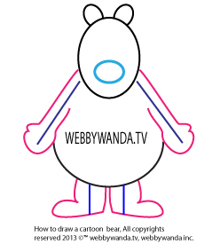 webbywanda.tv's how to draw a cartoon bear step three