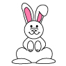 Bunny Cartoon How to draw lesson