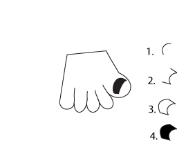 how to draw a cartoon Frankenstein hand step two