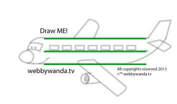 how to draw an airplane cartoon